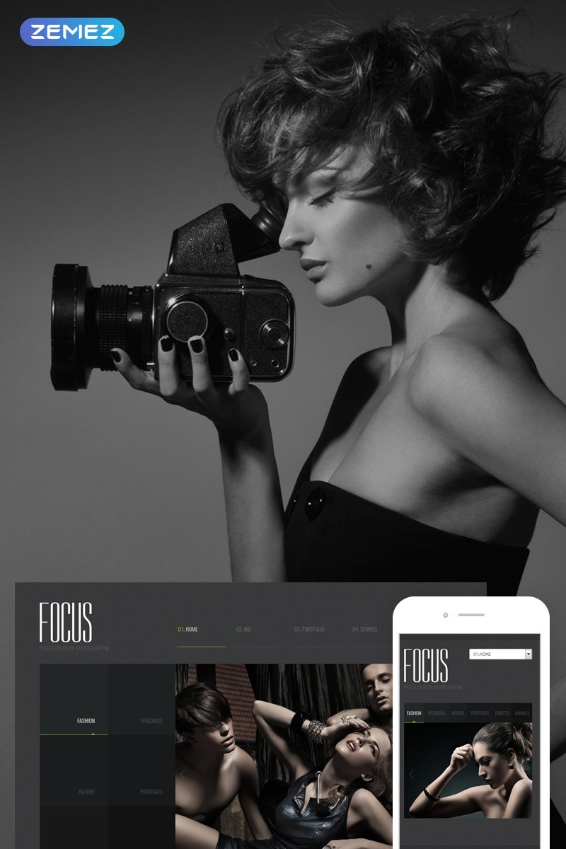 Photographer Portfolio Responsive Joomla Template - screenshot
