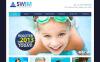 Prémium Úszás témakörű  Moto CMS HTML sablon New Screenshots BIG