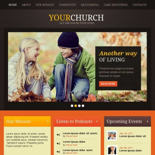 Your Church - Facebook HTML CMS Template