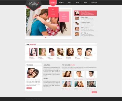Responsywny szablon strony www #44031 na temat: randki