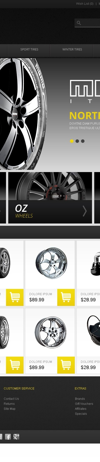 Wheels & Tires OpenCart Template