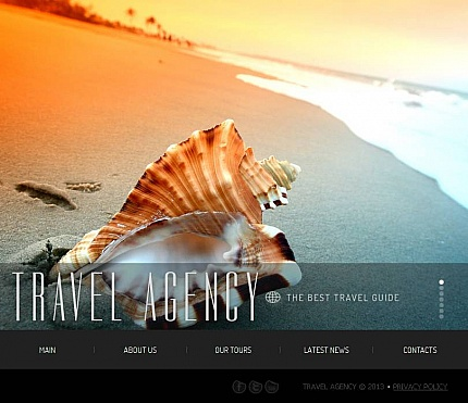 ADOBE Photoshop Template 44102 Home Page Screenshot