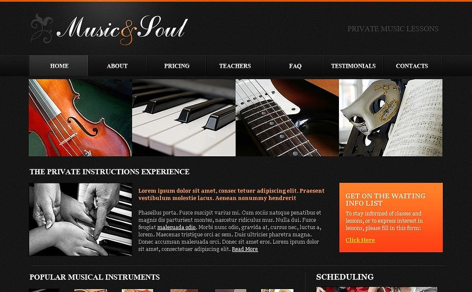 Plantilla Flash CMS #44108 para Sitio de Música New Screenshots BIG