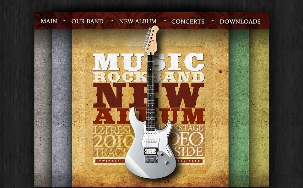 Flash CMS шаблон на тему музична група New Screenshots BIG