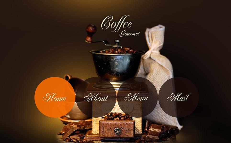Flash CMS Vorlage für Kaffeeshop  New Screenshots BIG
