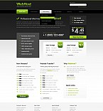 Web Hosting Flash CMS  Template 44114