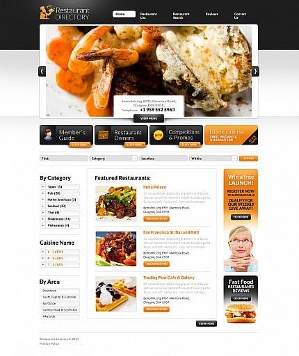 ADOBE Photoshop Template 44115 Home Page Screenshot