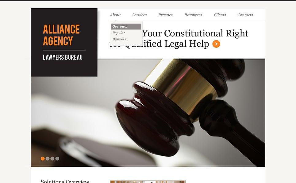 Szablon Flash CMS #44116 na temat: firma prawnicza New Screenshots BIG