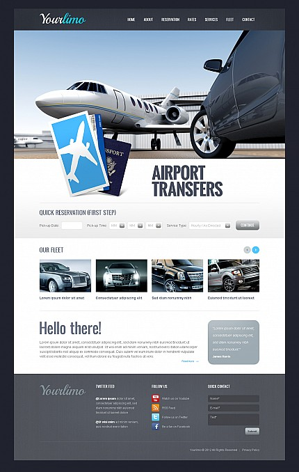 ADOBE Photoshop Template 44123 Home Page Screenshot