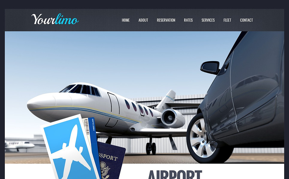 Premium Flash CMS Template over Limousine Service  New Screenshots BIG
