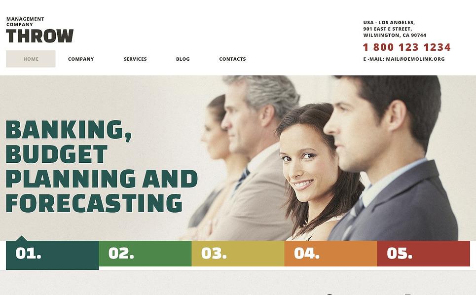 Tema WordPress Responsive #44127 per Un Sito di Società di Gestione New Screenshots BIG