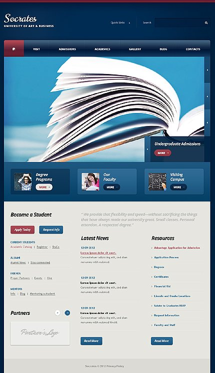 Drupal Template 44128 Main Page Screenshot