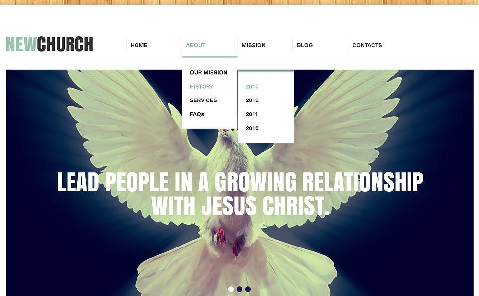 Responzivní Šablona webových stránek na téma Náboženský New Screenshots BIG