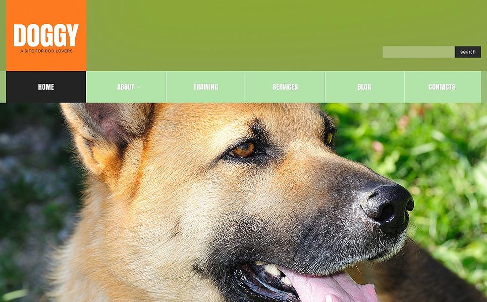 Responsive Köpek  Web Sitesi Şablonu New Screenshots BIG