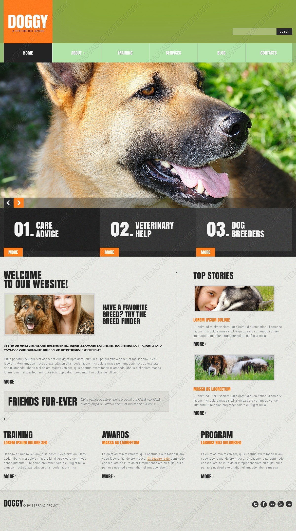 Dogs Website Templates by Daniel C. Adams