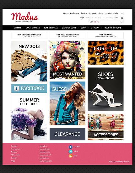 ZenCart Template 44133 Main Page Screenshot