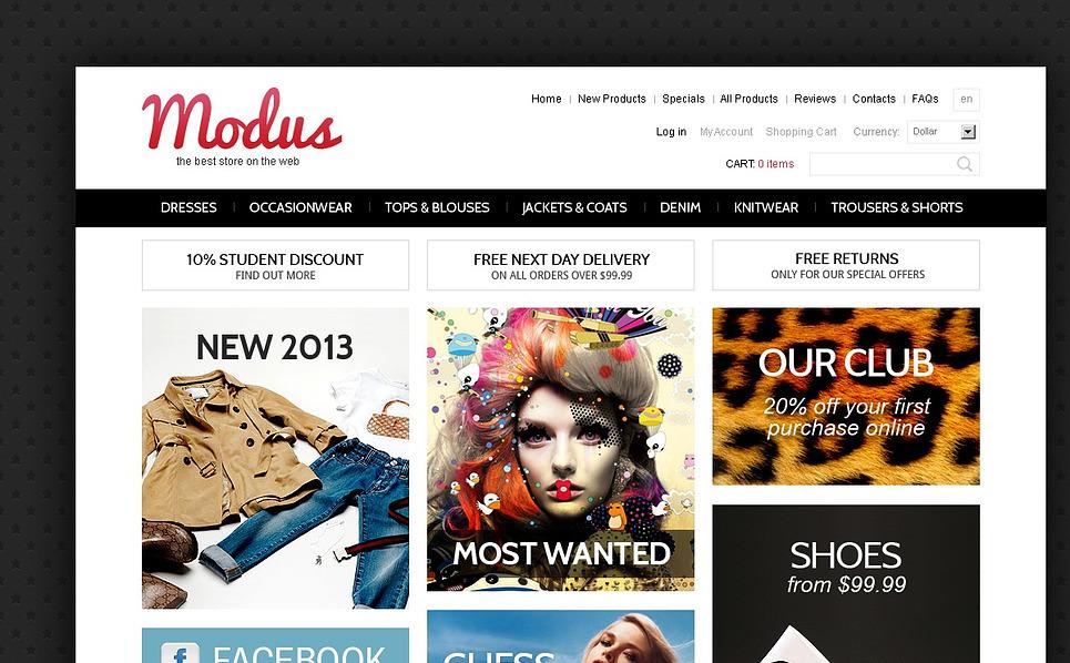ZenCart шаблон №44133 на тему  модного магазина New Screenshots BIG
