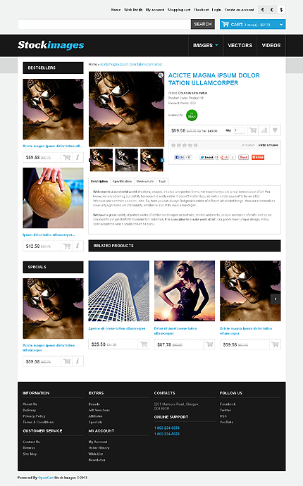 ADOBE Photoshop Template 44135 Home Page Screenshot