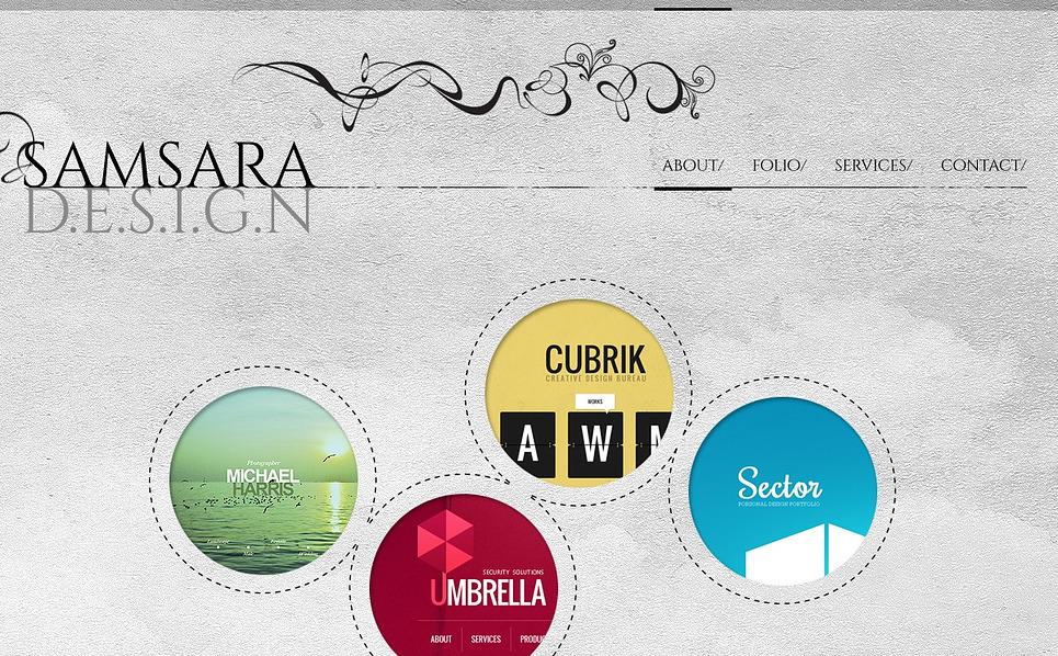 Bootstrap Šablona webových stránek na téma Designové studio New Screenshots BIG