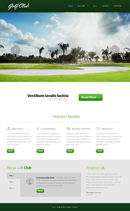 Joomla Theme/Template 44163 Main Page Screenshot
