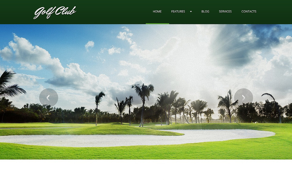 Thème Joomla adaptatif  pour sites de golf New Screenshots BIG