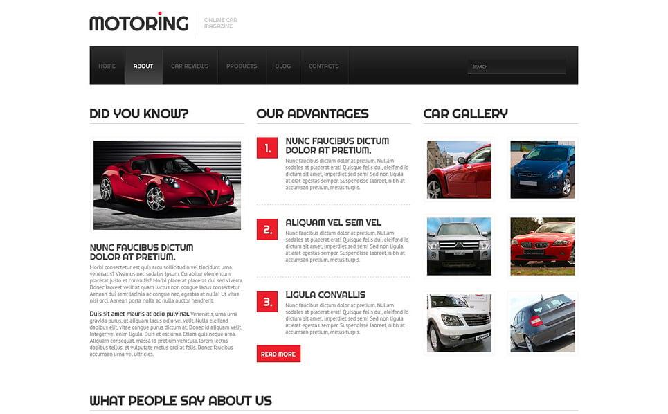 Responsive Website Vorlage für Wagen  New Screenshots BIG