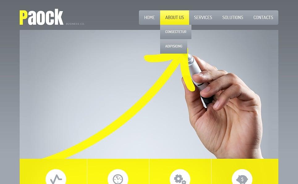 Template Siti Web Responsive #44194 per Un Sito di Società d'Investimento New Screenshots BIG