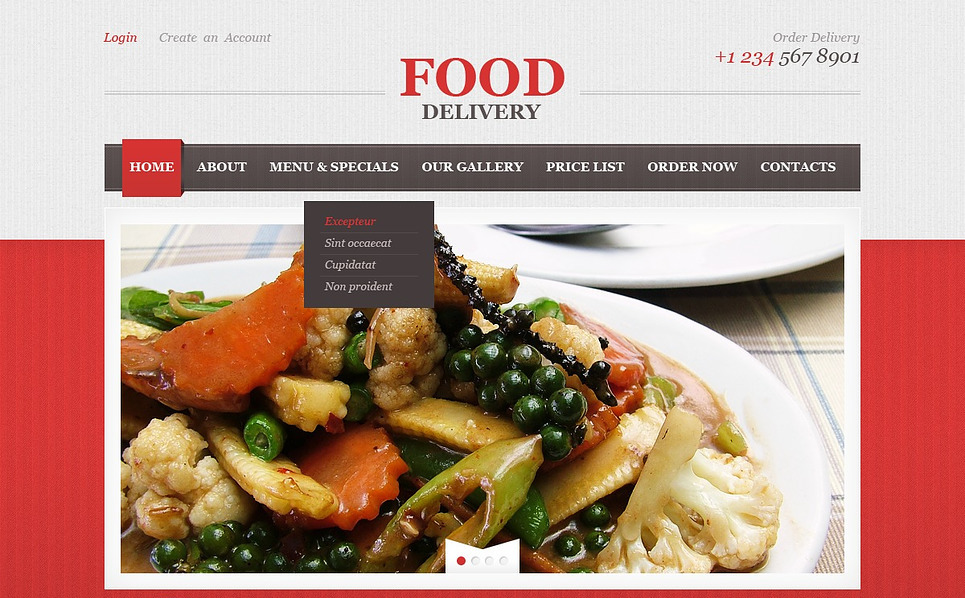 Responzivní Šablona webových stránek na téma Cateringové služby New Screenshots BIG