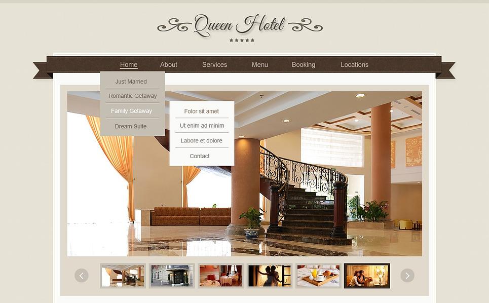 Responsive Website Vorlage für Hotels  New Screenshots BIG