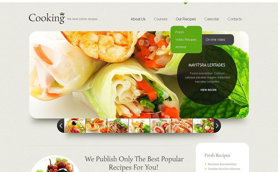 Responzivní Šablona webových stránek na téma Vaření New Screenshots BIG