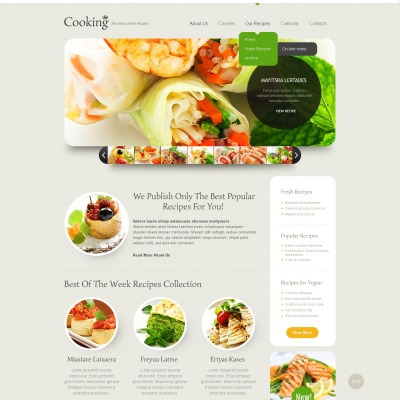 Cooking website templates forumfinder Images
