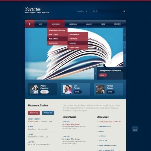 Socrates - HTML5 Drupal Template