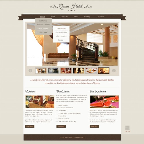 Queen Hotel - Responsive Website Template