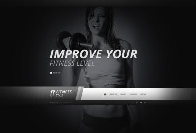 HTML шаблон №44140 на тему фитнес