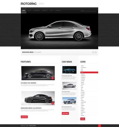 Modèle Web adaptatif  pour site d'automobiles