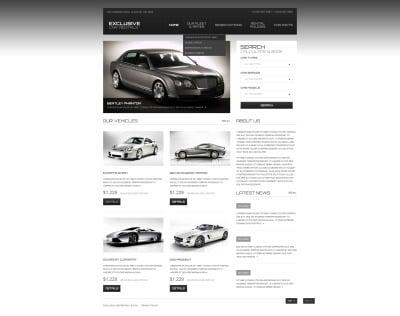 Responsywny szablon strony www #44198 na temat: wypożyczalnia samochodów