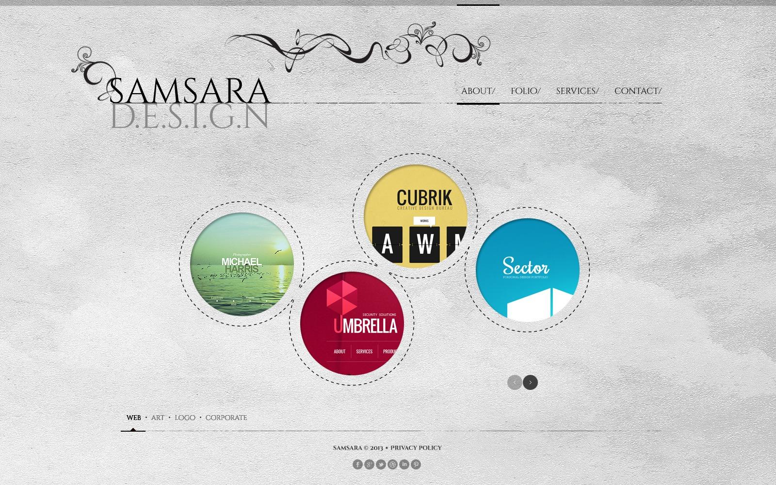Template siti web 44145 per un sito di design studio for Sito di design