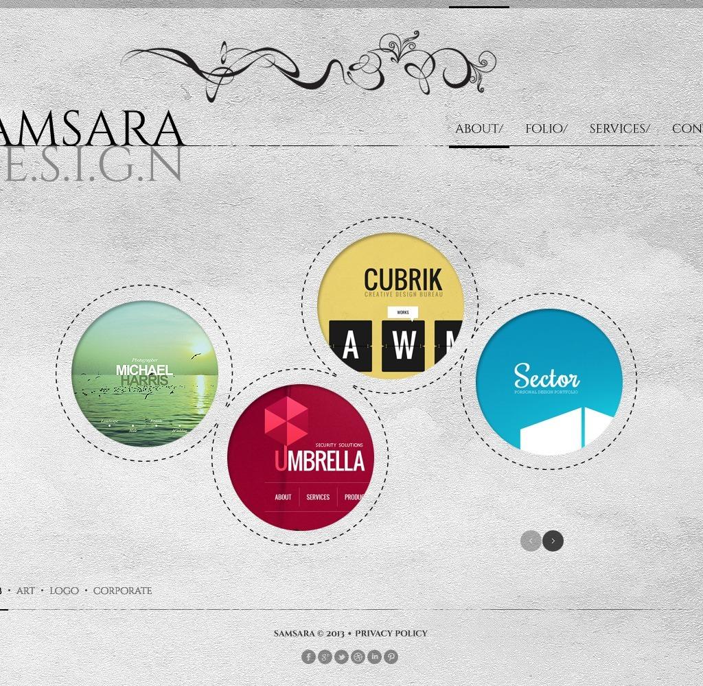 Template siti web 44145 per un sito di design studio for Siti di design