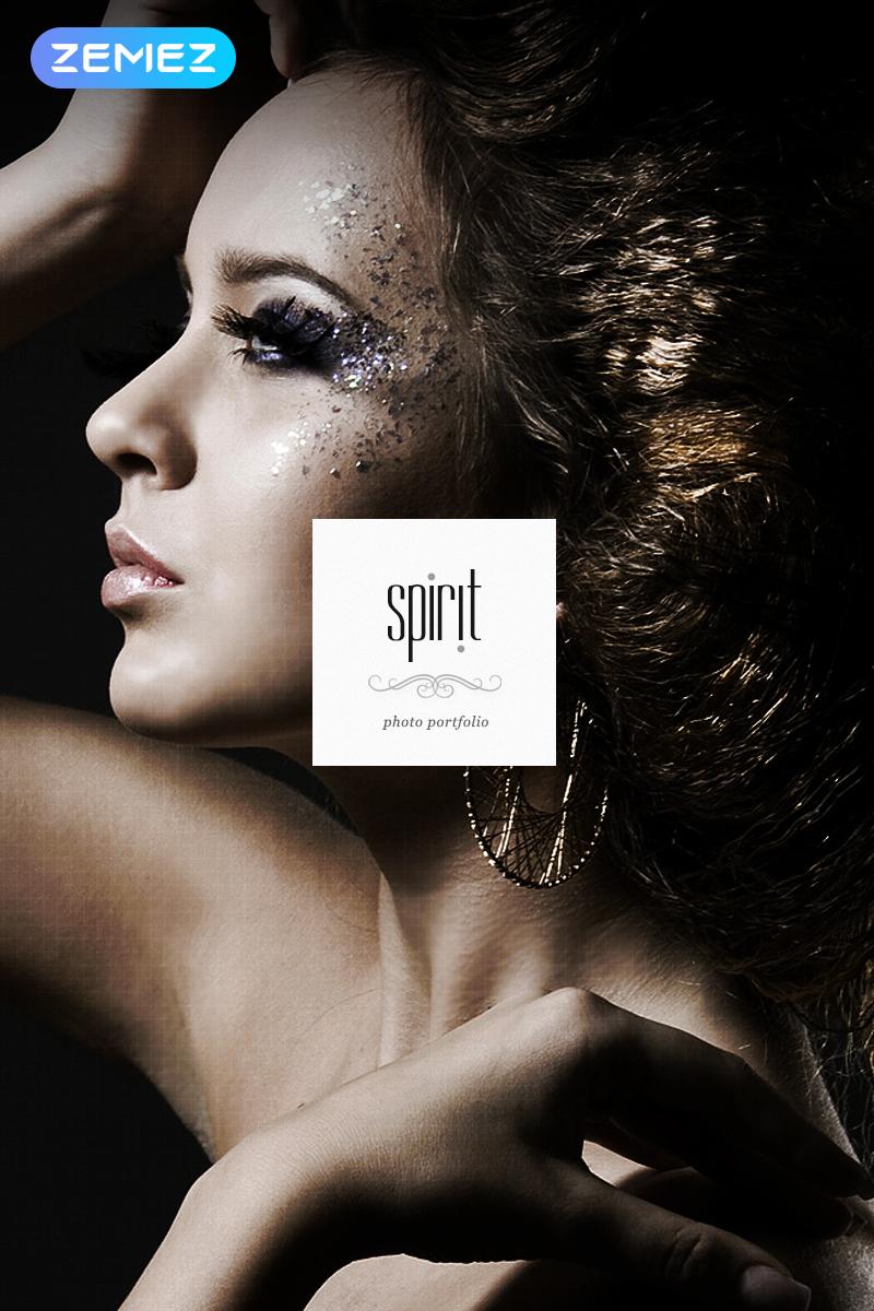 "Template Joomla Responsive #44185 ""Spirit - Photographer Portfolio Elegant"" - screenshot"