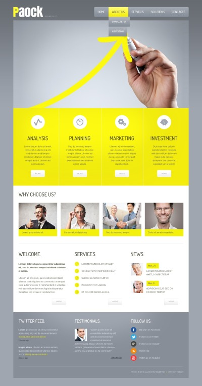 Investment Company Responsive Template Siti Web
