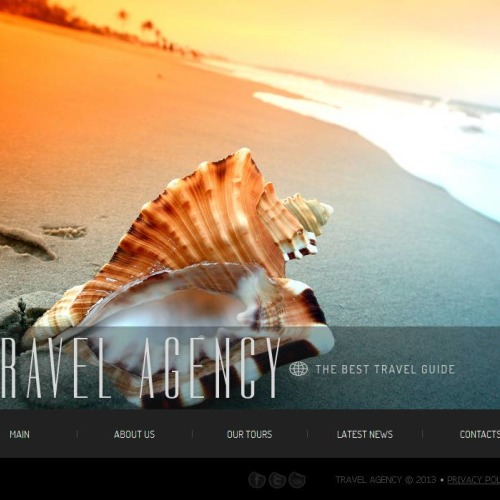 Trevel Agency - Facebook HTML CMS Template