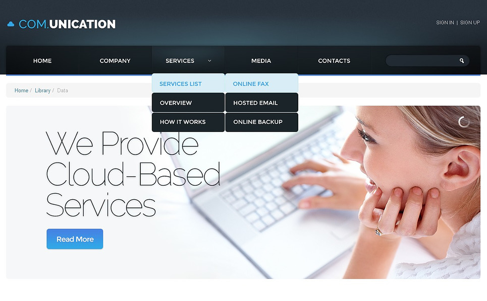 Modello Siti Web Responsive #44201 per Un Sito di Comunicazioni New Screenshots BIG