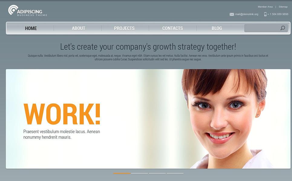 Адаптивний Шаблон сайту на тему менеджмент New Screenshots BIG