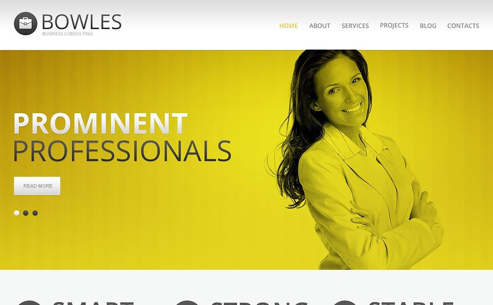 "Drupal Vorlage namens ""Weißfarbenes Beratungsunternehmen"" New Screenshots BIG"