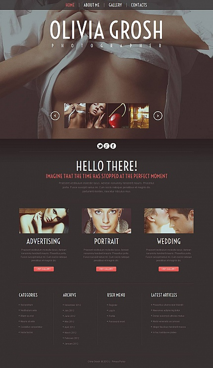 ADOBE Photoshop Template 44208 Home Page Screenshot