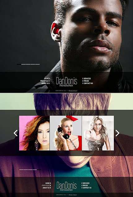 ADOBE Photoshop Template 44209 Home Page Screenshot