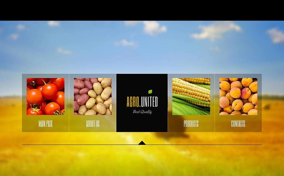 Szablon Moto CMS HTML #44224 na temat: rolnictwo New Screenshots BIG