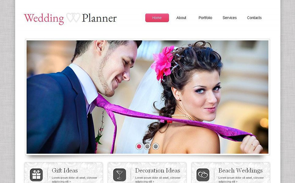 Template Moto CMS HTML para Sites de Organizadora de casamento №44225 New Screenshots BIG