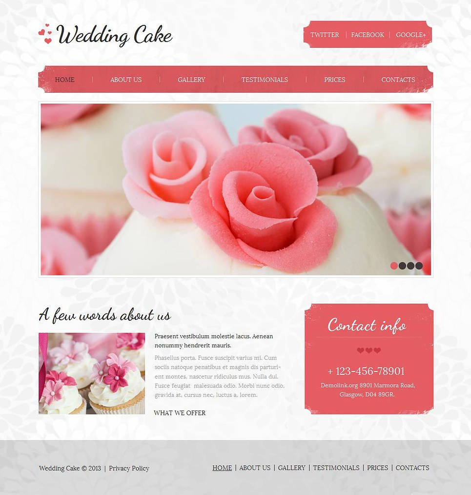 Wedding Website Template with Gallery Grid Thumbnails - image