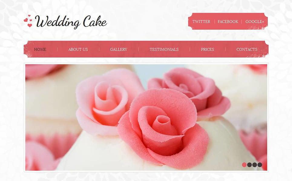 Prémium Esküvői torták  Moto CMS HTML sablon New Screenshots BIG